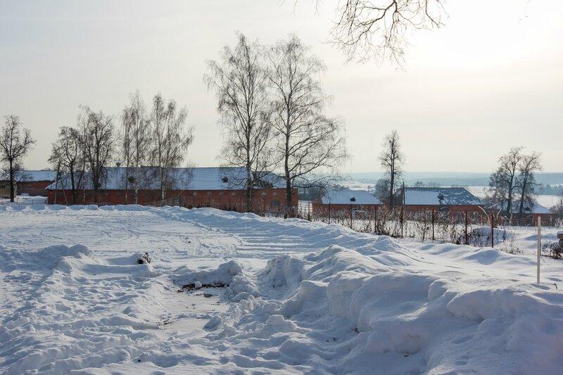 Хозяйственные постройки конного двора и конторские флигели, усадьба Ольгово