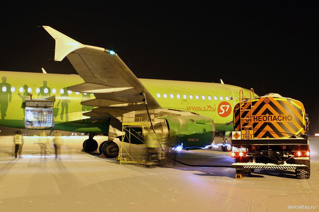 Аэробус А 319 VP-BHF в аэропорту Горно-Алтайска