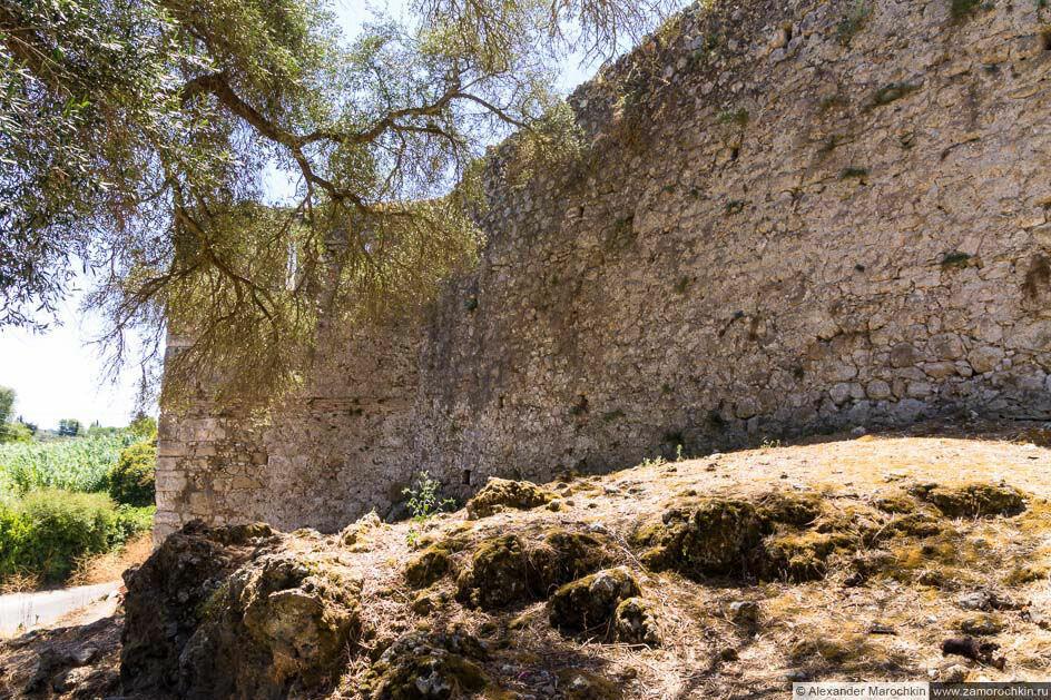 Крепостные стены Гардики, остров Корфу