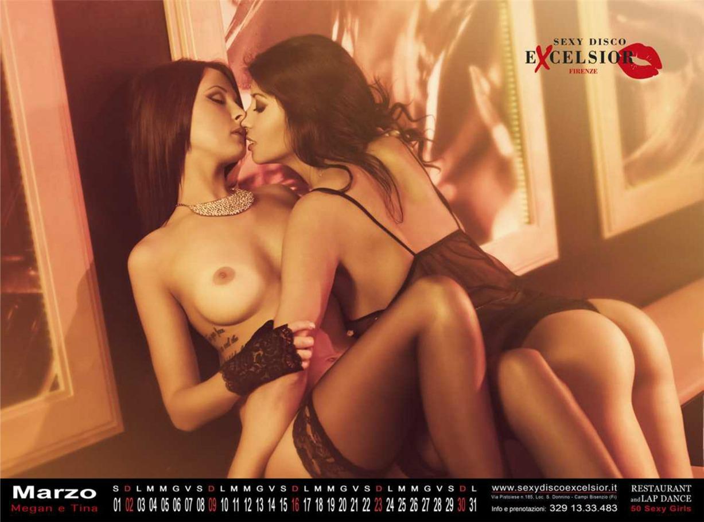 Сексуальные девушки в эротическом календаре ресторана Sexy Disco Excelsior на 2014 год