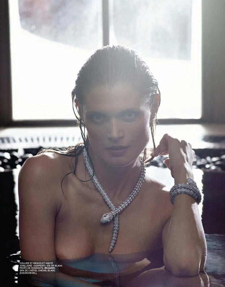 Зимние игры - Малгоша Бела / Malgosia Bela by Mark Segal in Lui february 2014 / Jeux d'Hiver