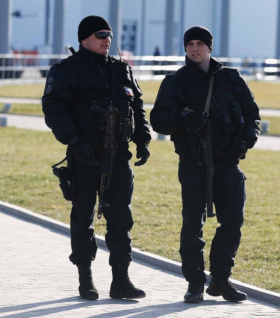 Полицейский патруль с близкого расстояния