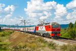 Электровоз ЭП2К-197 с поездом №2 Москва - Владивосток