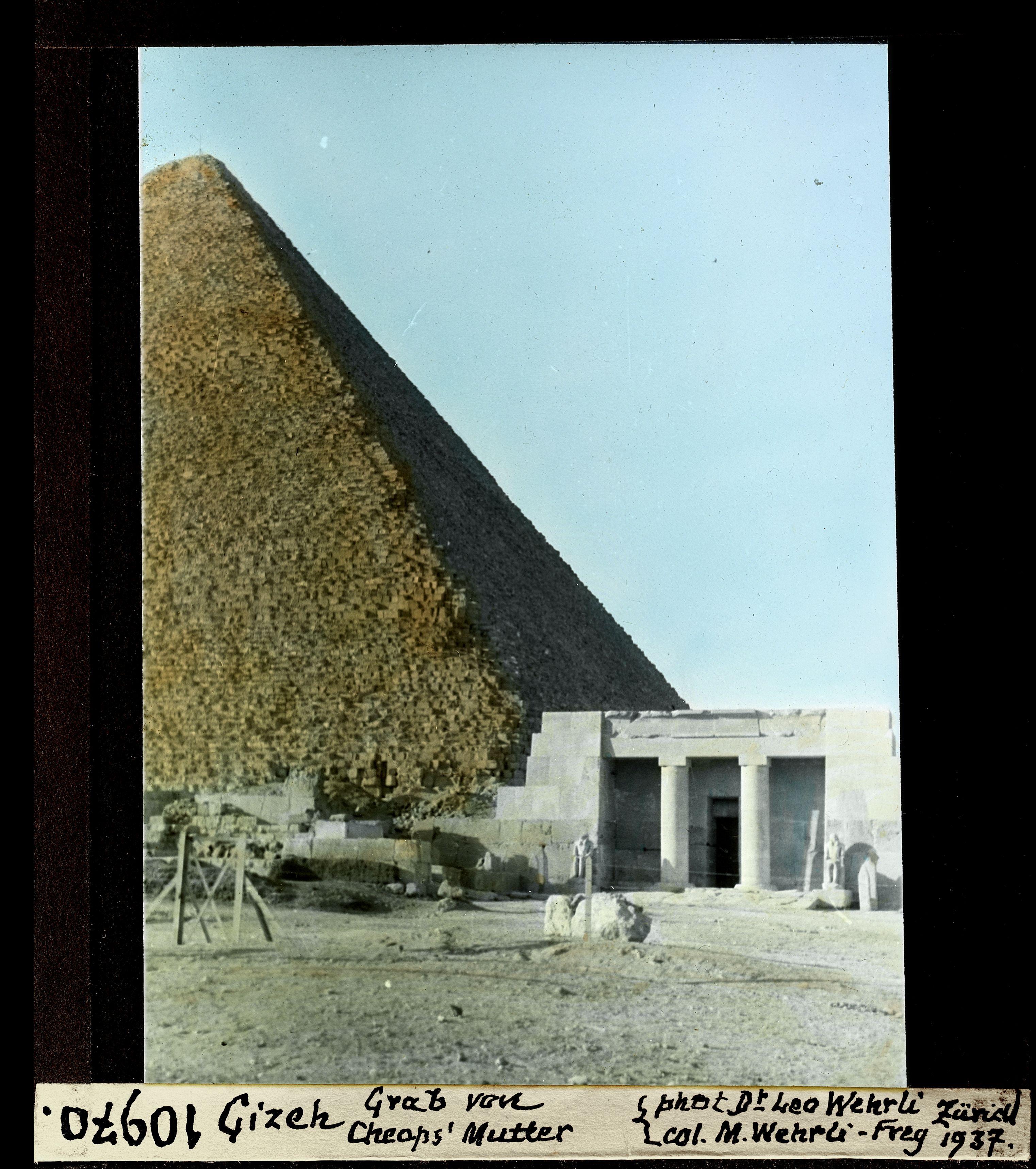 Гиза. Пирамида Хеопса, могила царицы Хетепхерес, матери Хеопса