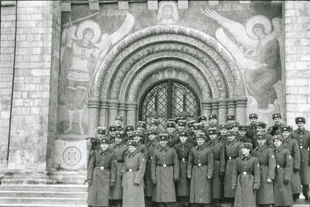 Возле церкви в Кремле, Москва, СССР, 1989