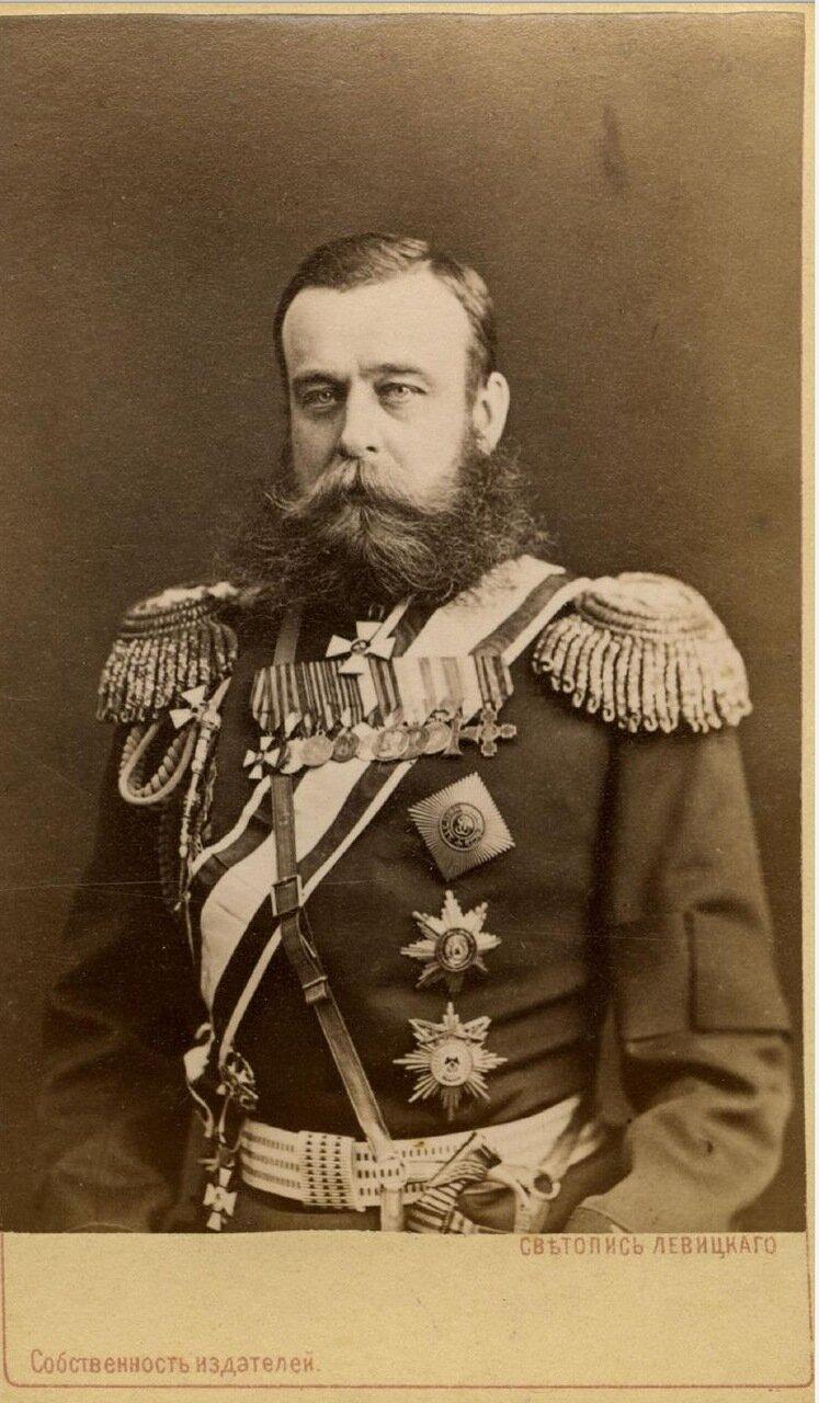 Михаил Дмитриевич Скобелев (1843—1882) — выдающийся русский военачальник и стратег, генерал от инфантерии (1881), генерал-адъютант (1878)