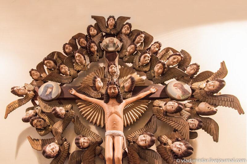 Распятие Христа, фрагмент композиции.
