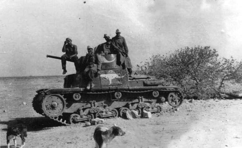 Танк M13/40 захваченный австралийскими частями британской армии.