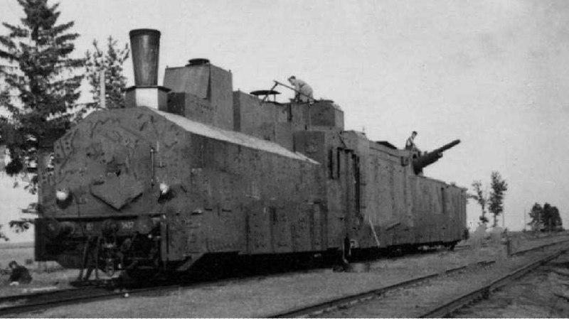 Брошенный советский бронепоезд