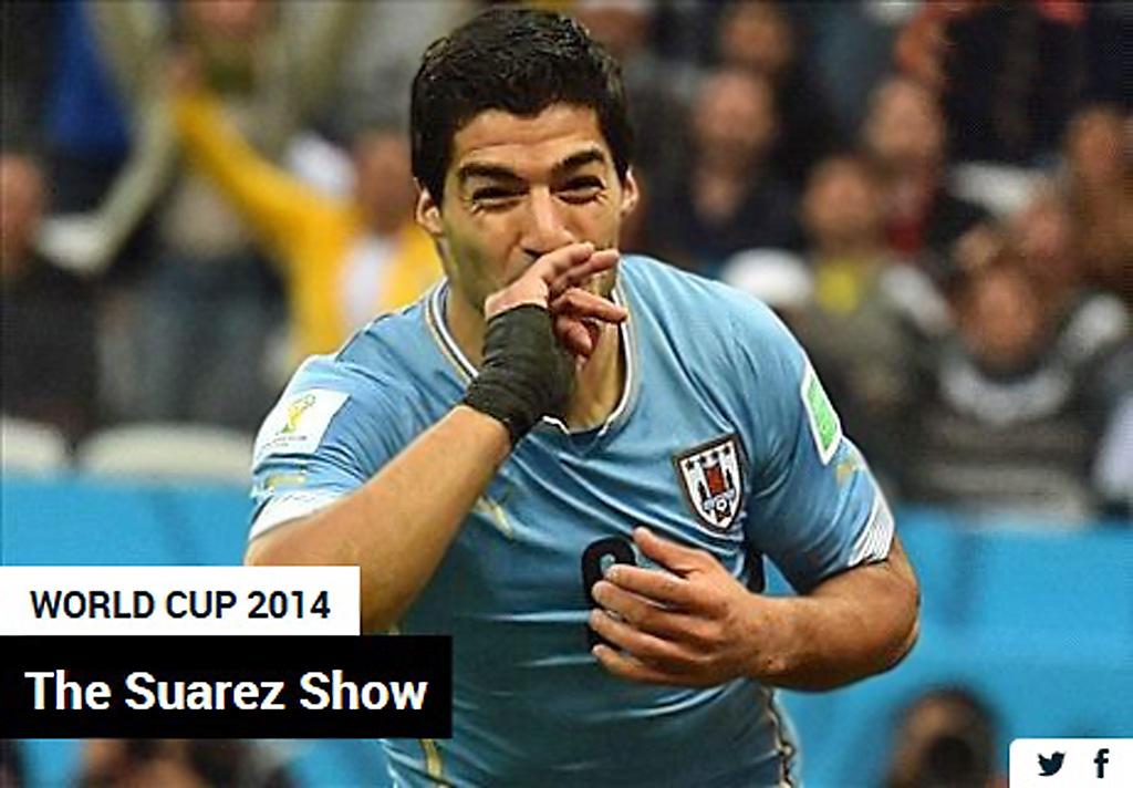 Luis Suarez. футбол. Уругвай-Англия 2:1., 19/06/2014