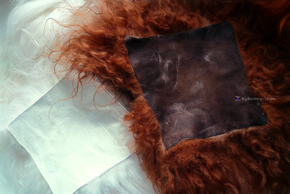 шкура козы, парики для кукол из шкур. волосы для кукол натуральные