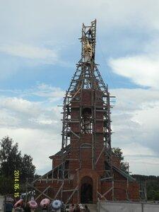 Подъём креста на храм в селе Рябчи. 15.06.2014г.