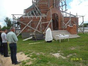 Освящение крестов для храма в селе Рябчи. 15.06.2014 года.