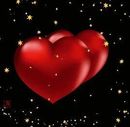 Сердечки, анимация открытка поздравление картинка