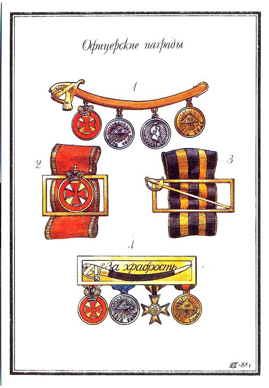 Офицерские награды.