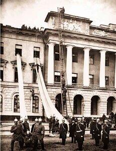 Показательные учения пожарных частей Санкт-Петербургской Пожарнрй Крманды. 1900 г.