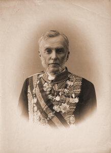 Пален, фон дер Константин Иванович (1833-1912) - граф, русский государственный деятель, министр юстиции (1867-1878), член  Государственного Совета Российской империи (с 1878 г.). Портрет.