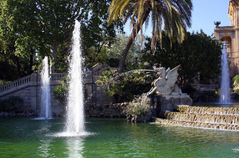 Драконы фонтана парка Цитадель