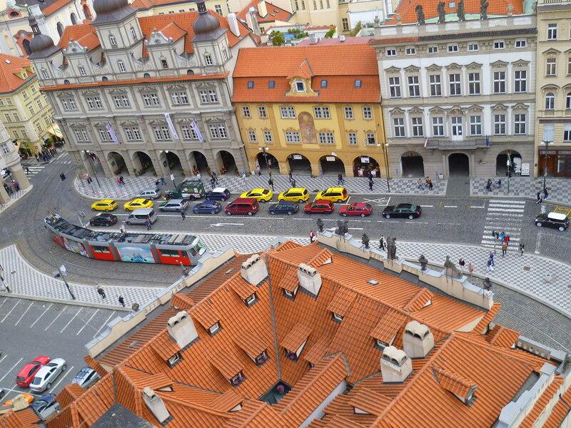 Чехия, Прага - вид с храма Св. Микулаша (Czech Republic, Prague - view from the church of St. Nicholas)