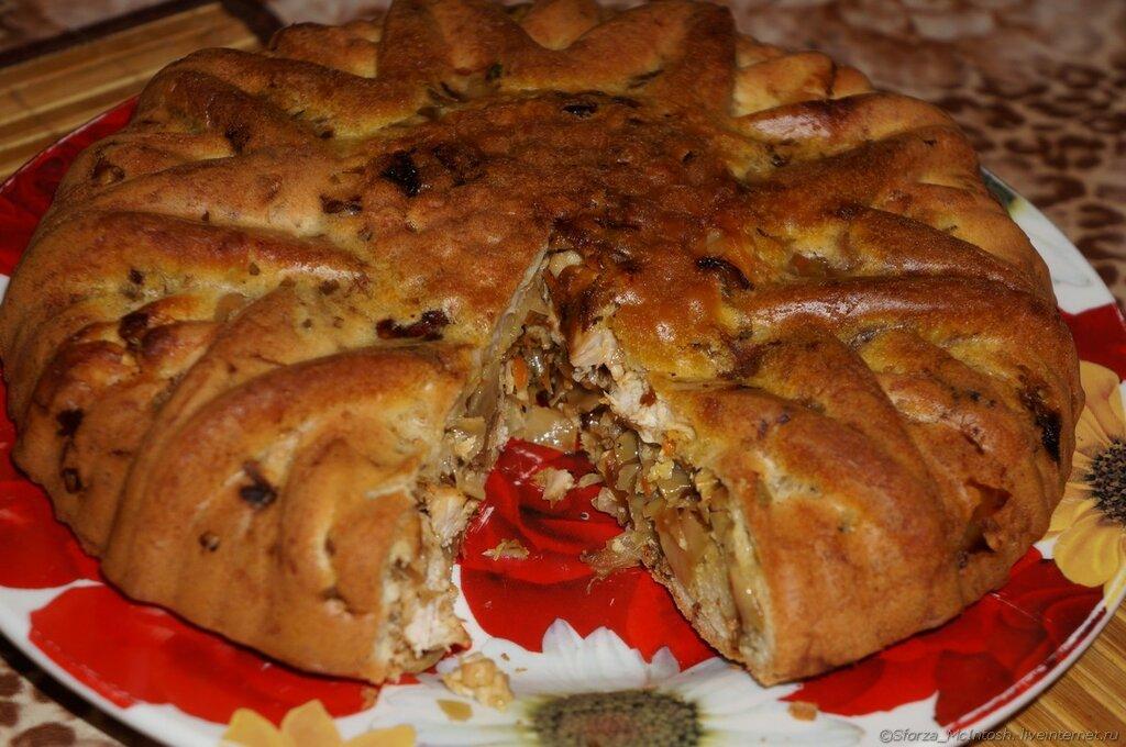 Пирог дрожжевой в силиконовой форме
