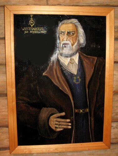 Портрет Виестура из экспозиции музея в реконструкции земгальского замка