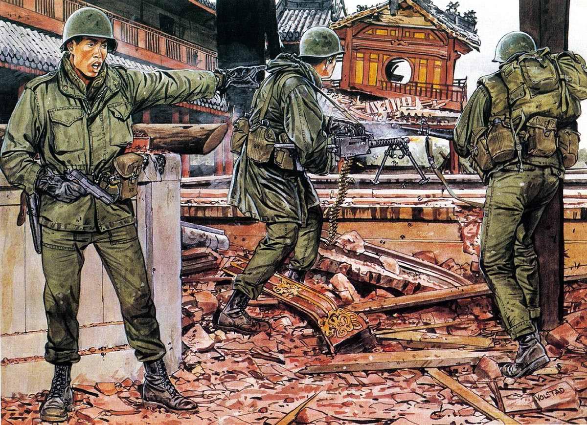 Американские солдаты в Южном Вьетнаме