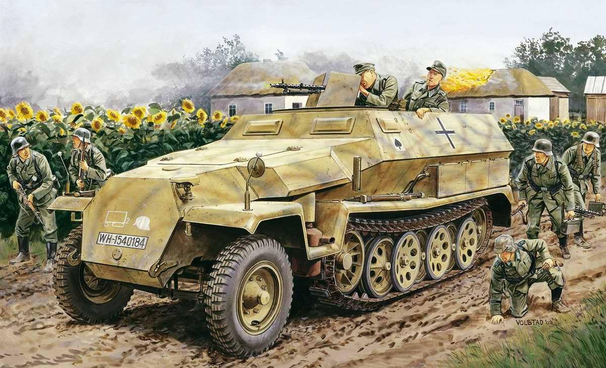 Немецкий бронетранспортер Sd Kfz 251 (Ron Volstad)