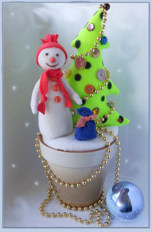 снеговик по сугробам напрямик