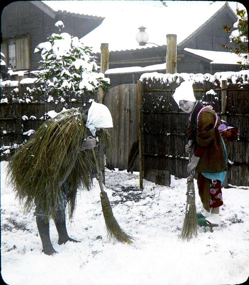 Иокогама. Уборка снега
