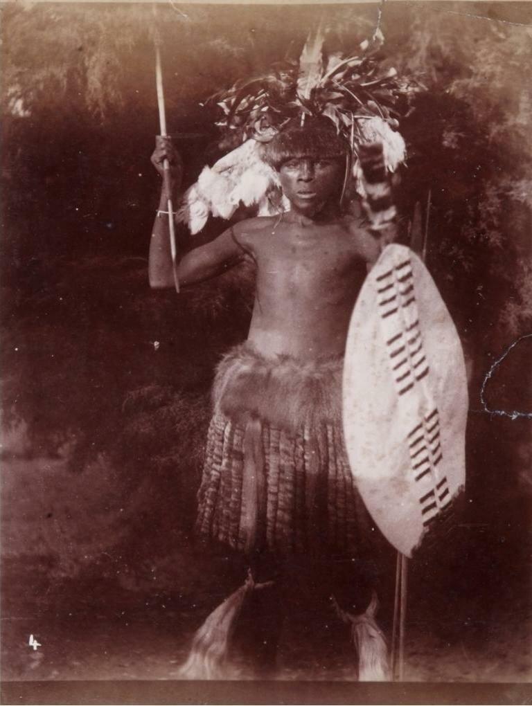 1880. Зулуский воин
