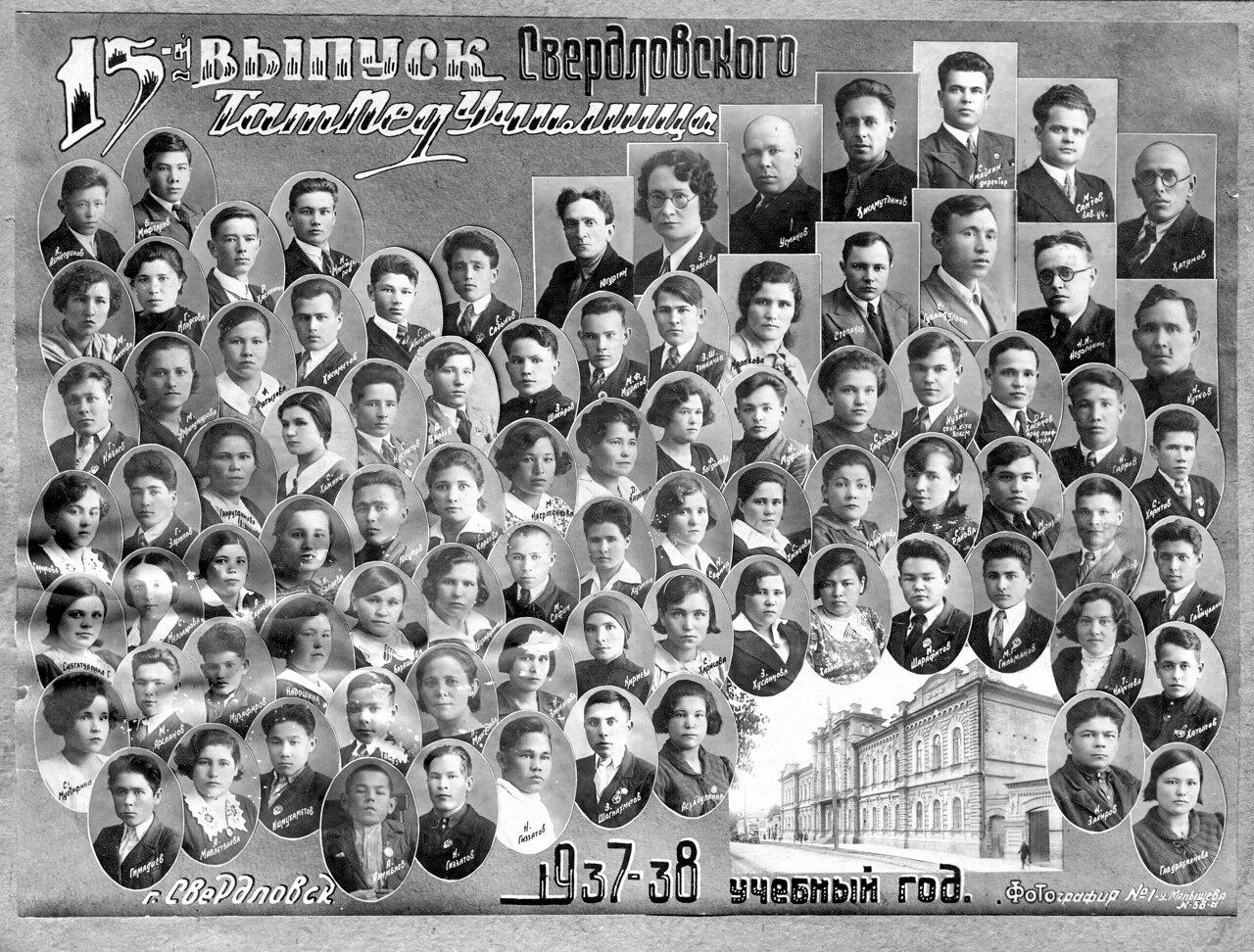 1937-1938. Свердловская татаро-башкирская педагогическая школа