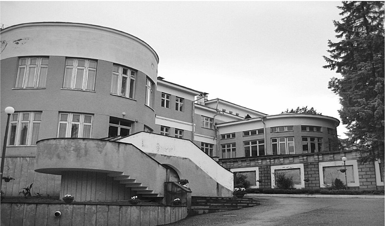 Санаторий КСУ. Корпус № 4, первоначально - столовая санатория, после реконструкции - лечебно-диагностический