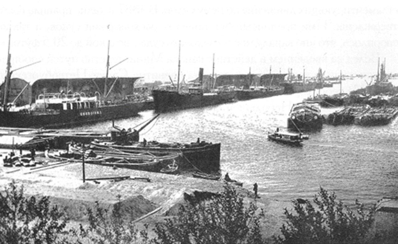 1890. Морской канал. Вид из Гутуевского ковша.
