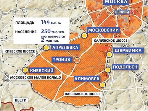План по развитию и застройке Новой Москвы одобрят в 2016-м