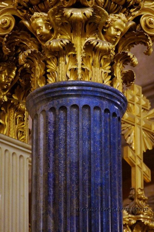 Колонна из бадахшанского лазурита у Царских врат, Исаакиевский собор (собор преподобного Исаакия Далматского), Санкт-Петербург