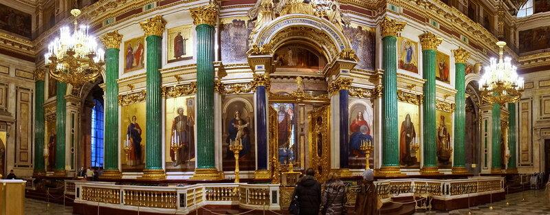 Главный иконостас и Царские врата, Исаакиевский собор (собор преподобного Исаакия Далматского), Санкт-Петербург