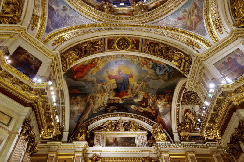 Исаакиевский собор внутри (собор преподобного Исаакия Далматского), Санкт-Петербург