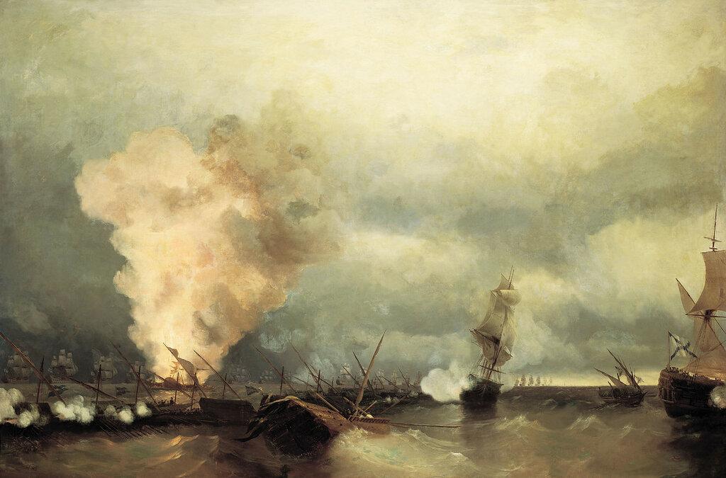 Морское сражение при Выборге 29 июня 1790 года. 1846. Холст, масло.jpg