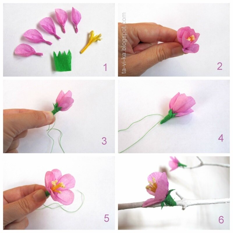 Как сделать бумажные цветы своими руками из гофрированной бумаги 49