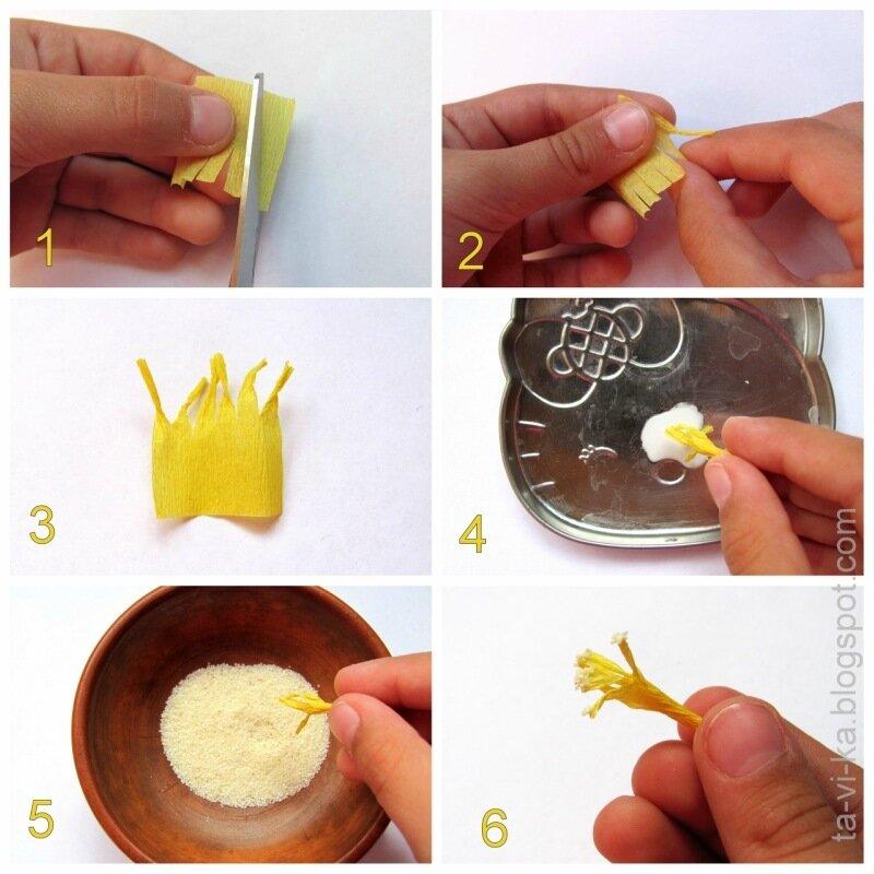 Как сделать цветок из бумаги на биологию