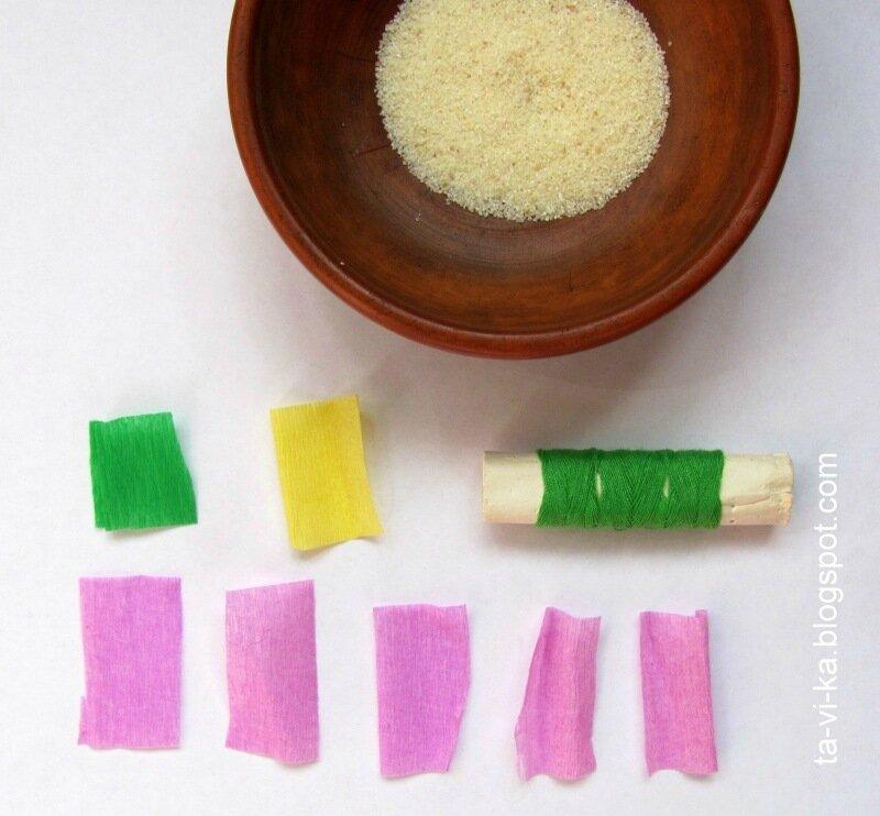 как сделать цветущую ветку из бумаги