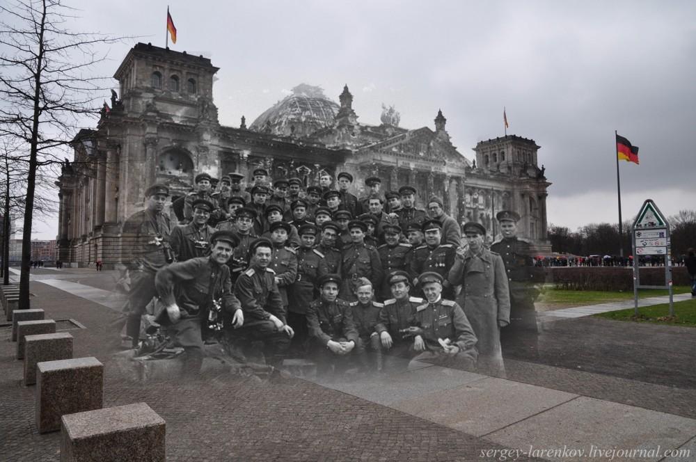13 Берлин 1945-2010 Военные корреспонденты у Рейхстага. Им я обязан осуществлением этого проекта..jpg