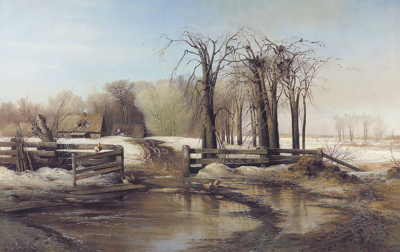 Весенний день. 1873, холст, масло, 95х140.jpg