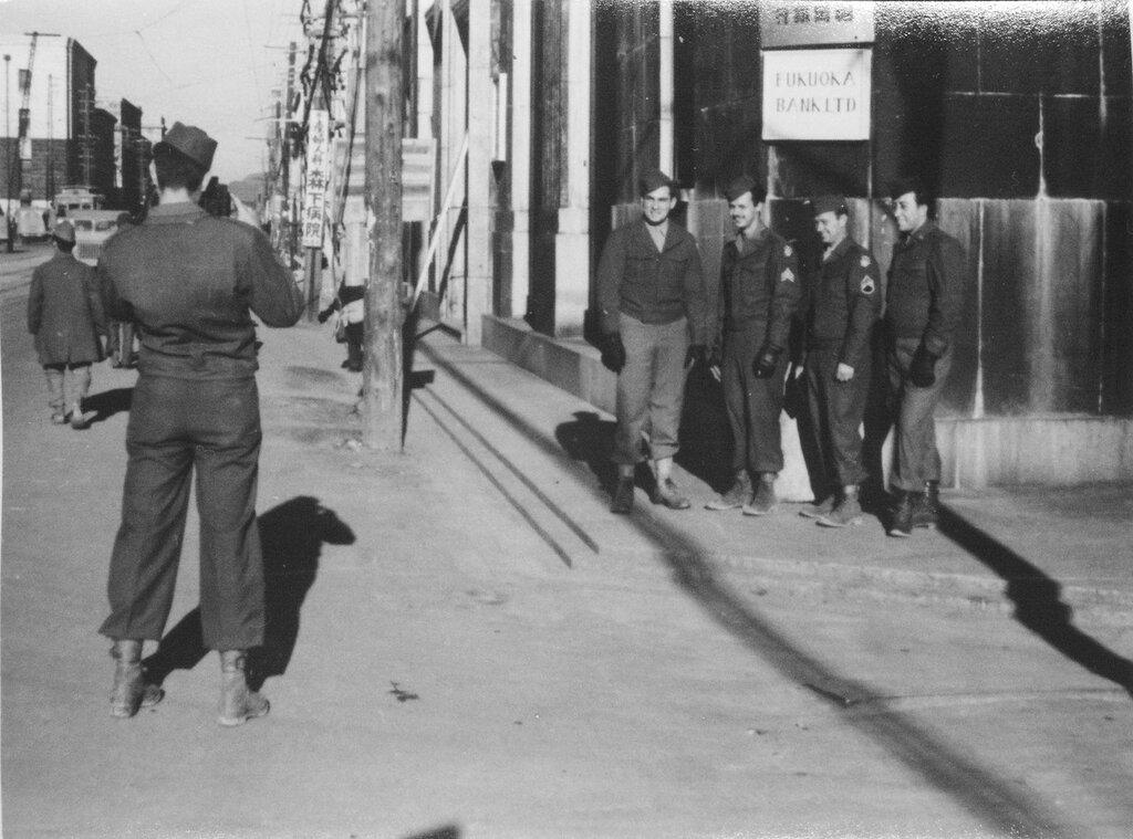 Main Street of Fukuoka, Japan Dec 1945