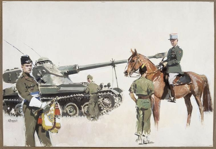 Albert Brenet - Mural for the 8th Cavalry regiment, 1993