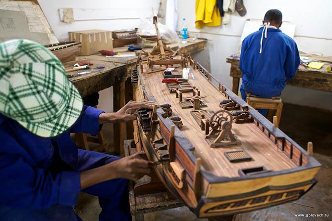 Изготовление модели парусников