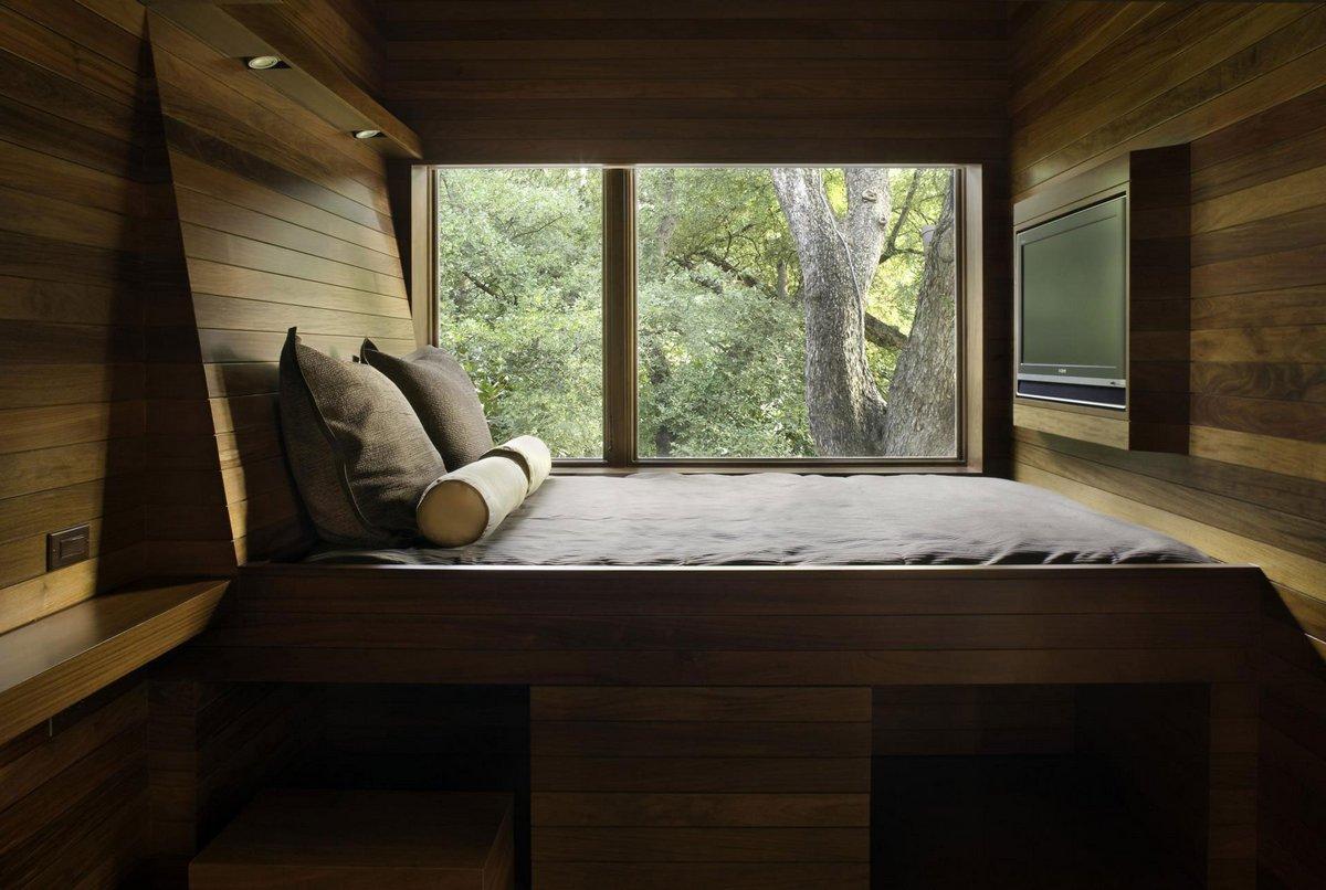 Residence 1414, Miro Rivera Architects, дома в Остине, частные дома в Техасе, особняки в США, белый фасад дома, дерево в интерьере фото