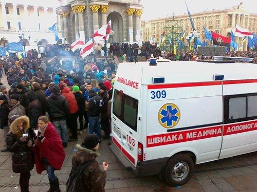 Скорая помощь на Евромайдане