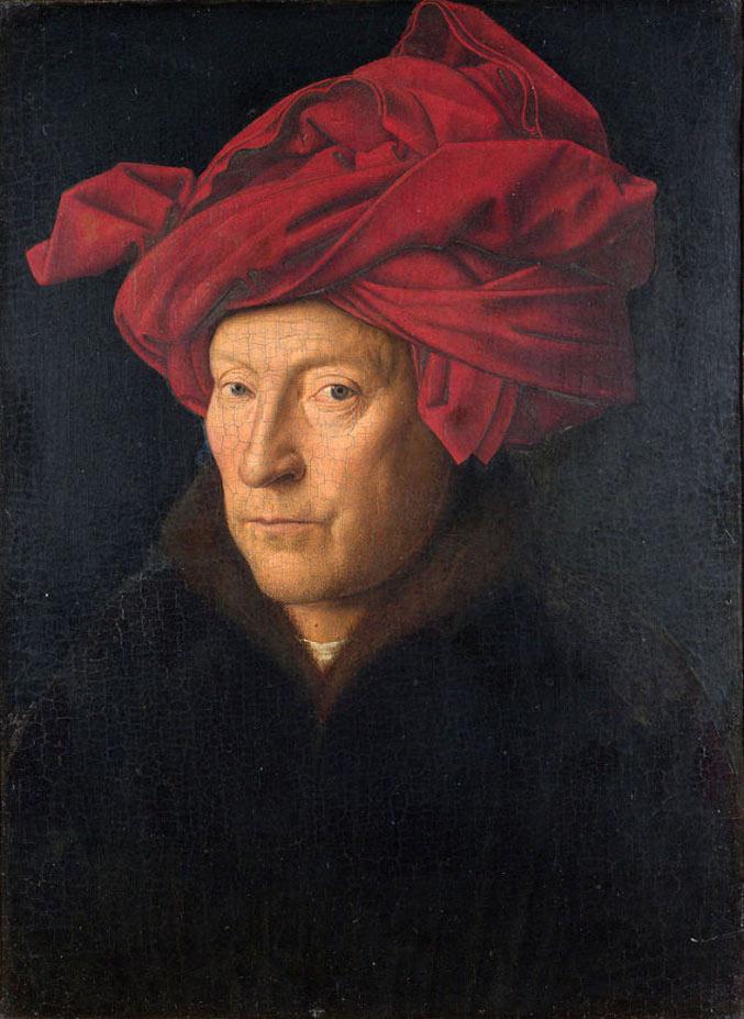 selfie / Self-portrait / Портрет мужчины в красном тюрбане, Ян ван Эйк / Jan Van Eyck, 1433
