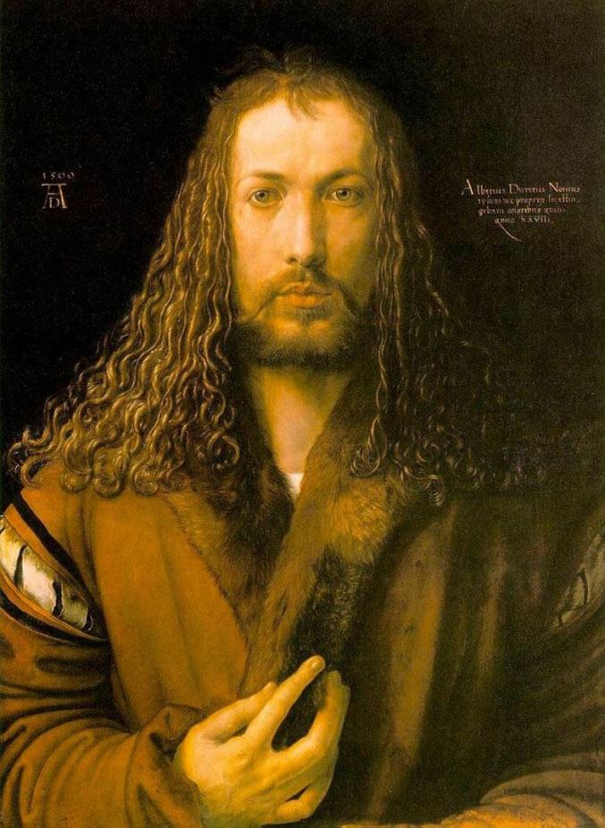 selfie / Self-portrait / Сын человеческий, Альбрехт Дюрер / Albrecht Durer, 1500